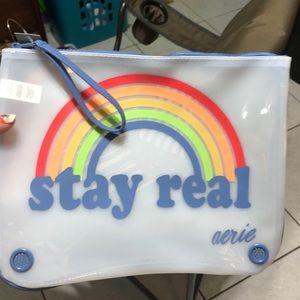 Beach Bag Stay Real Rainbow 🌈